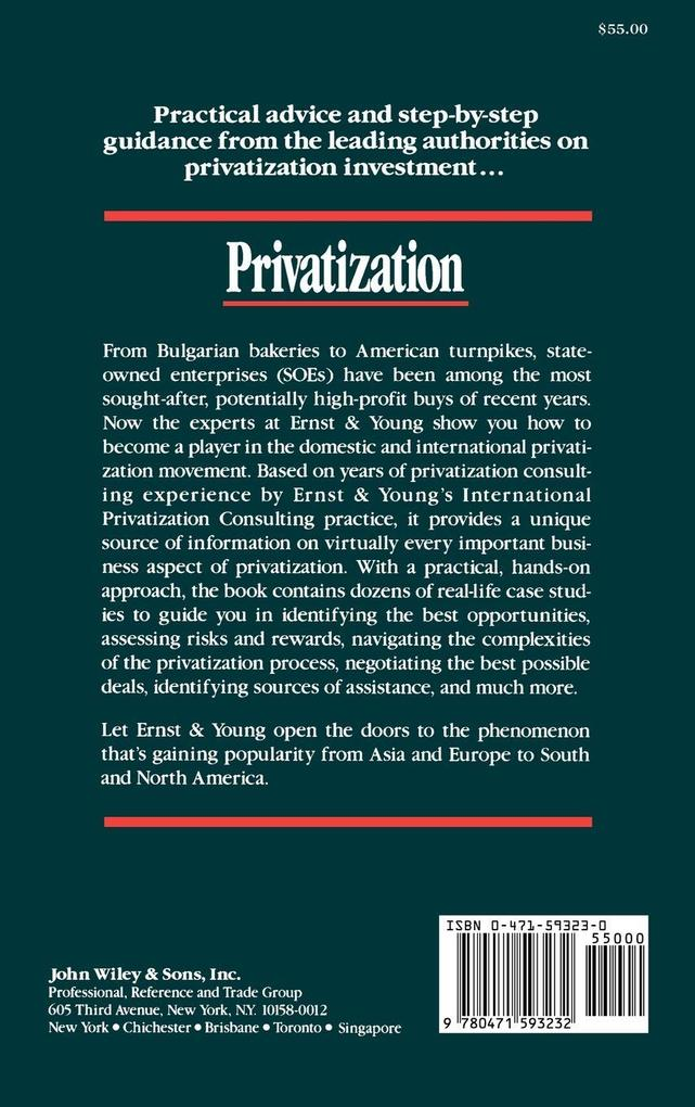 Privatization: Investing in State-Owned Enterprises Around the World als Buch