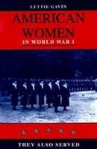 American Women in World War I als Buch
