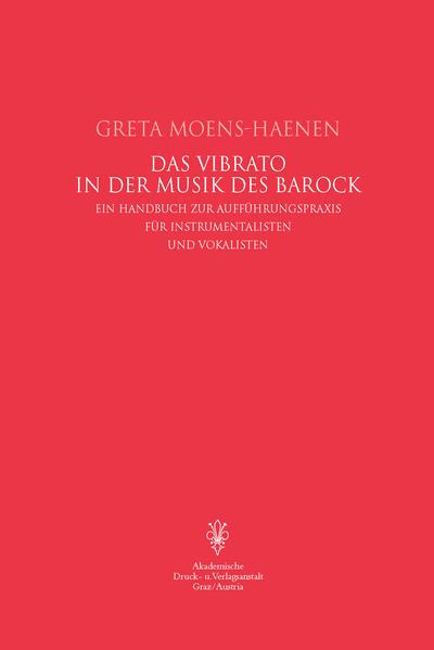 Das Vibrato in der Musik des Barock als Buch
