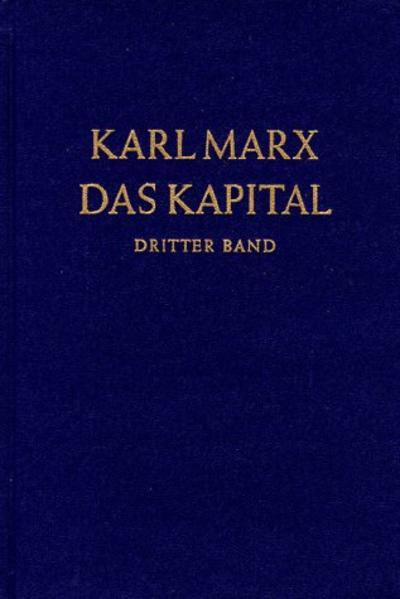 Das Kapital 3. Kritik der politischen Ökonomie als Buch