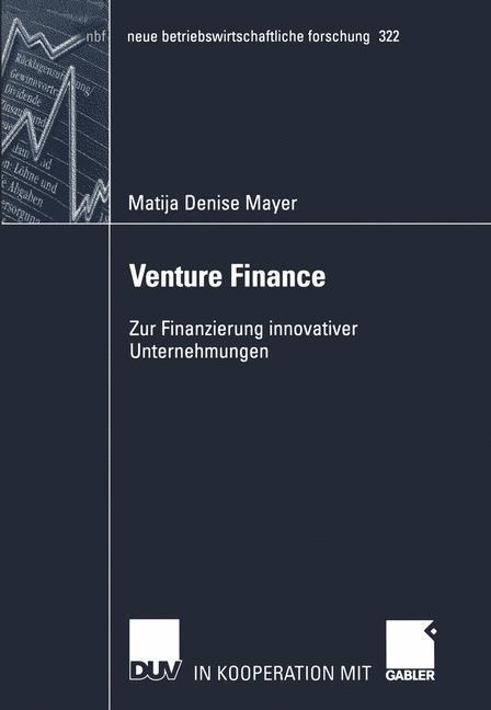 Venture Finance als Buch