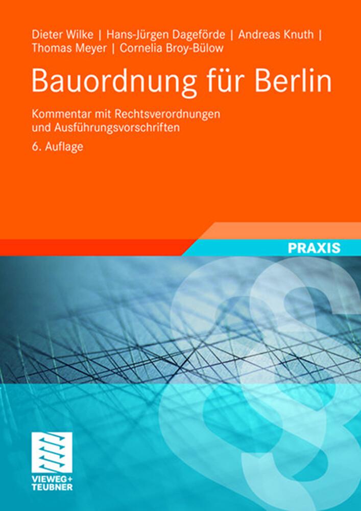 Bauordnung für Berlin als Buch
