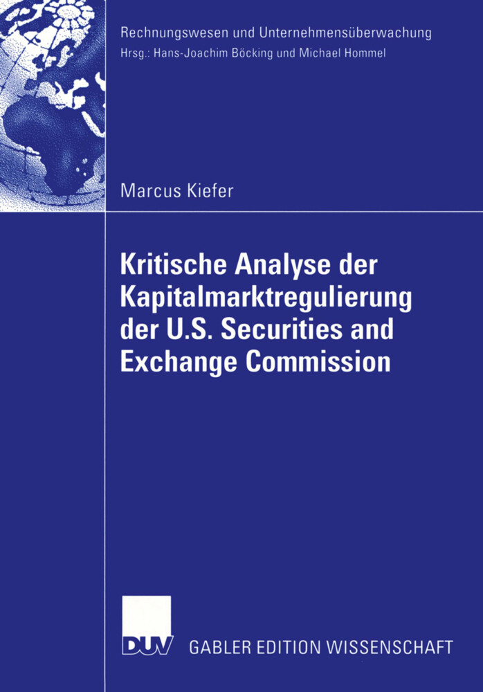 Kritische Analyse der Kapitalmarktregulierung der U.S. Securities and Exchange Commission als Buch (kartoniert)