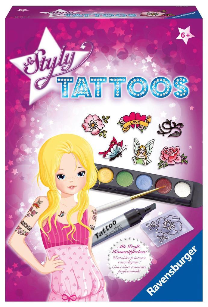 Tattoos Spiel Deutsch 2017 Mal- & Zeichenmaterialien für Kinder Malen & Zeichnen-Sets für Kinder So Styly