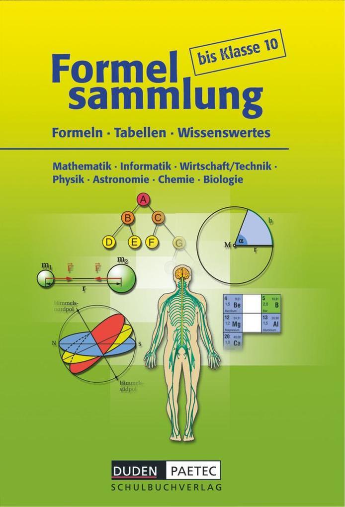 Formelsammlung bis Klasse 10 als Buch