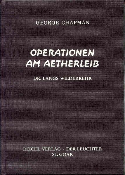 Operationen am Ätherleib als Buch