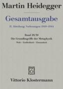 Gesamtausgabe Abt. 2 Vorlesungen Bd. 29/30. Die Grundbegriffe der Metaphysik