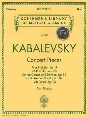 Concert Pieces: Schirmer Library of Classics Volume 2035 Piano Solo als Taschenbuch