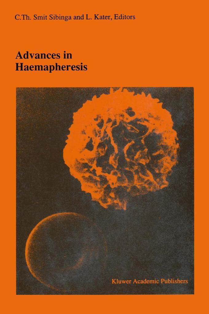 Advances in haemapheresis als Buch