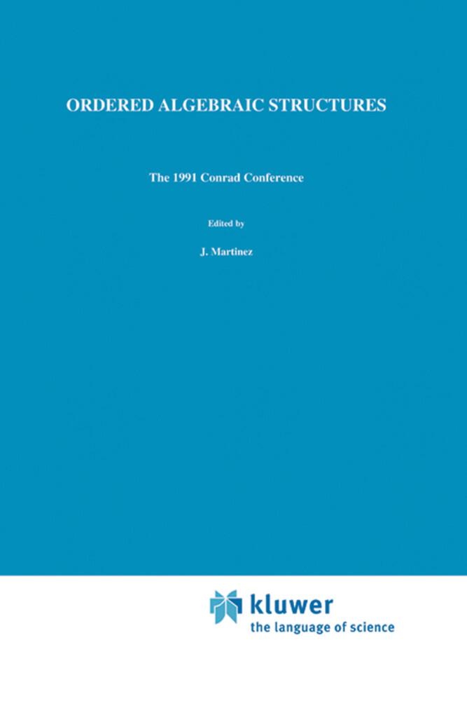Ordered Algebraic Structures als Buch