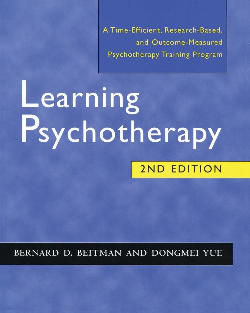 Learning Psychotherapy als Taschenbuch