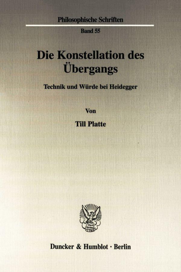 Die Konstellation des Übergangs als Buch