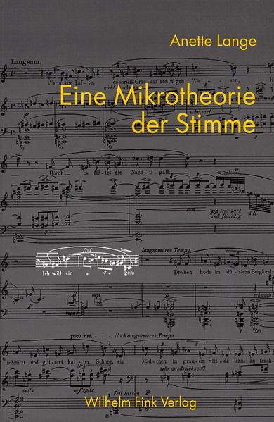 Eine Mikrotheorie der Stimme als Buch