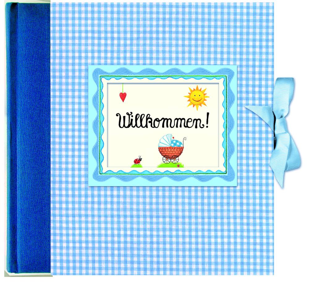 Willkommen! Babyalbum blau als Buch