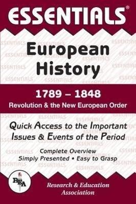 European History: 1789 to 1848 Essentials als Taschenbuch