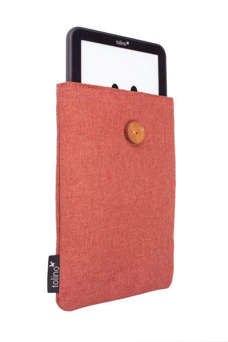 tolino Stofftasche mit Innenfutter - Rot als Hardware
