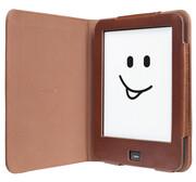 tolino vision Schutztasche in Echtleder - Vintage Braun