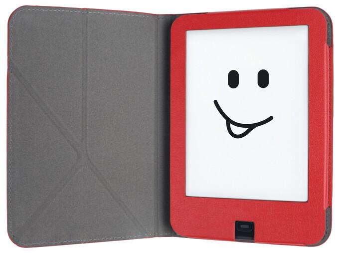 tolino shine 2HD Schutztasche mit Origami Standfunktion - Rot/Weiß als Hardware