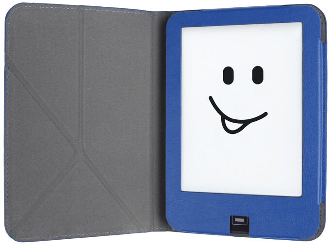 tolino vision Schutztasche mit Origami Standfunktion - Blau/Türkis als Hardware