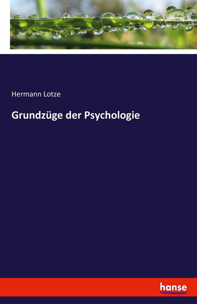 Grundzüge der Psychologie als Buch von Hermann ...
