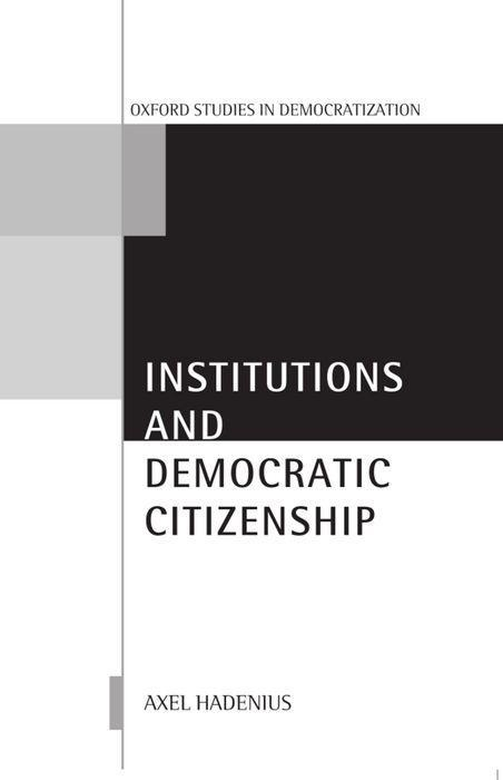 Institutions and Democratic Citizenship als Buch