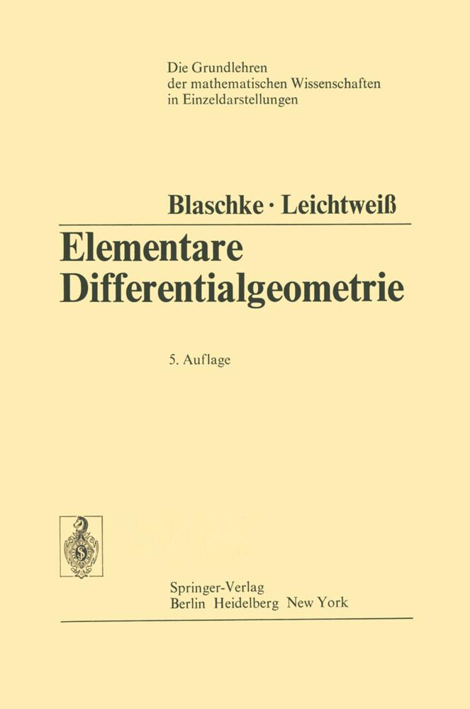 Elementare Differentialgeometrie als Buch