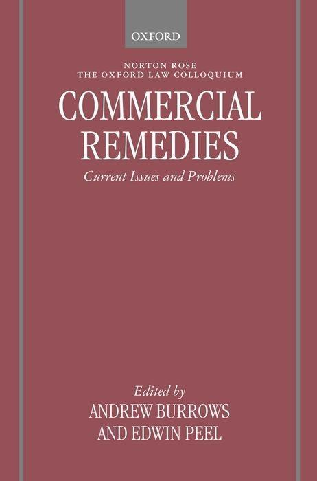Commercial Remedies: Current Issues and Problems als Buch