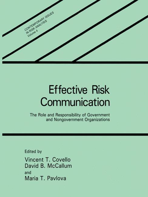 Effective Risk Communication als Buch