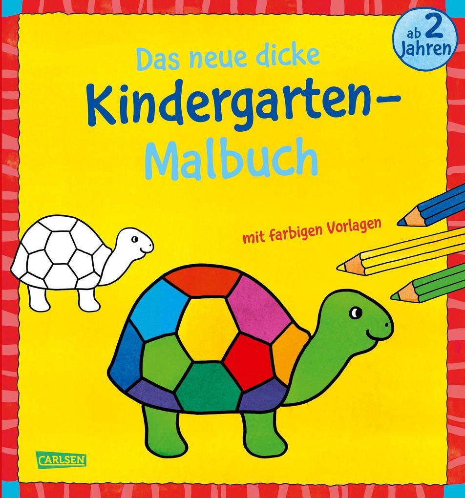 Das neue, dicke Kindergarten-Malbuch: Mit farbigen Vorlagen und lustiger Fehlersuche als Buch