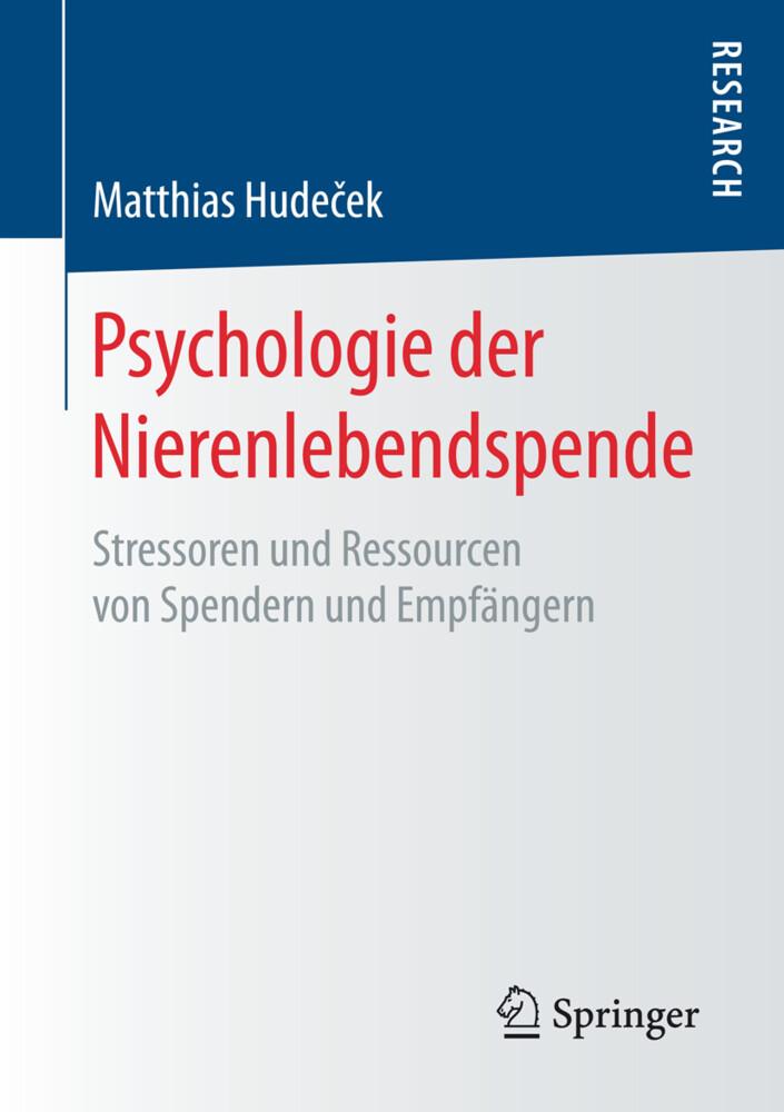 Psychologie der Nierenlebendspende als Buch von...