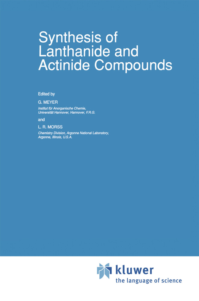 Synthesis of Lanthanide and Actinide Compounds als Buch