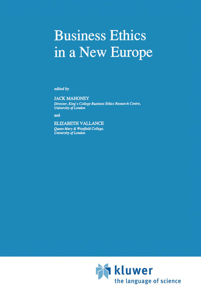 Business Ethics in a New Europe als Buch