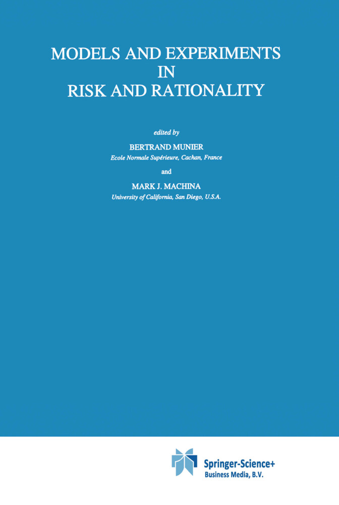 Models and Experiments in Risk and Rationality als Buch