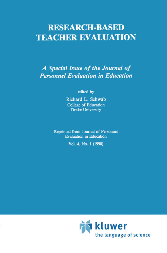 Research-Based Teacher Evaluation als Buch