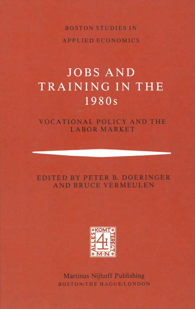 Jobs and Training in the 1980s als Buch