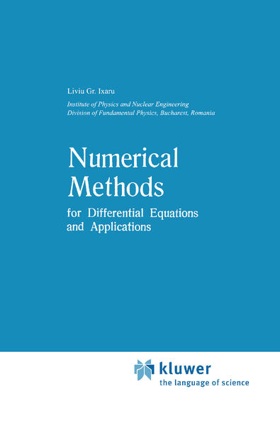 Numerical Methods for Differential Equations and Applications als Buch