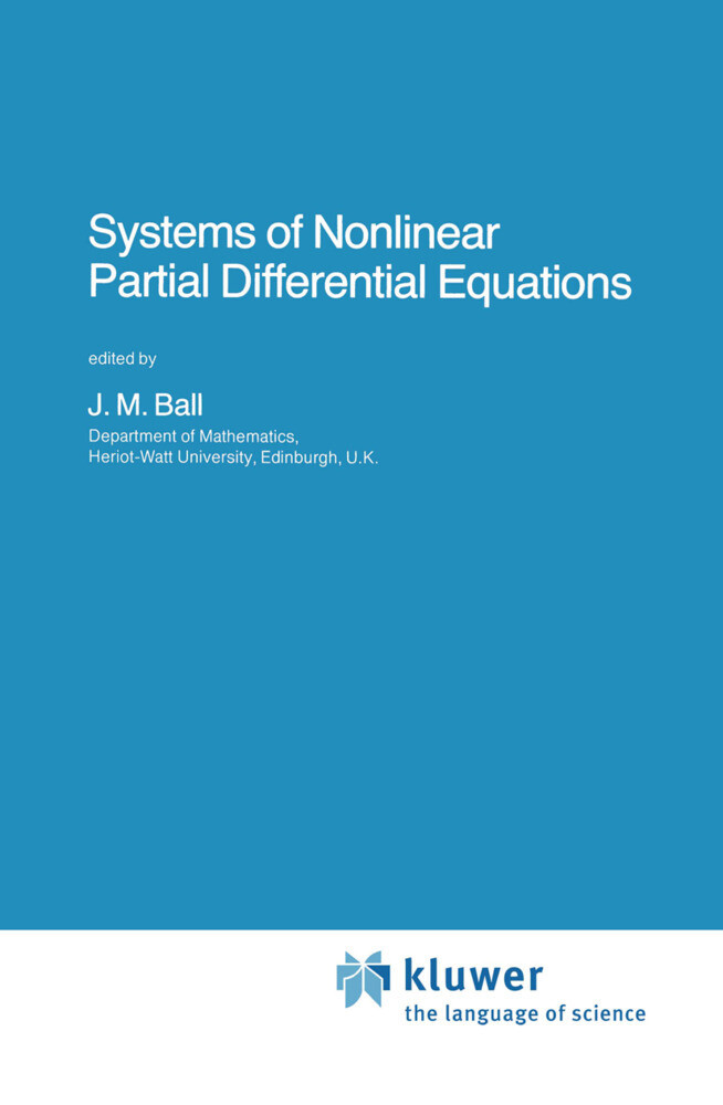 Systems of Nonlinear Partial Differential Equations als Buch