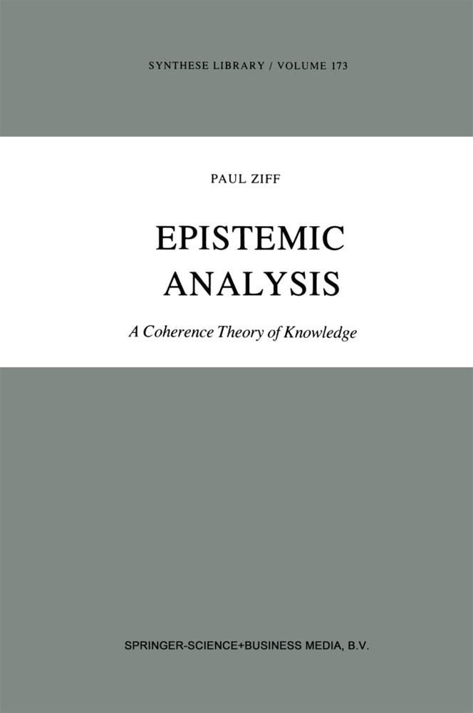 Epistemic Analysis als Buch