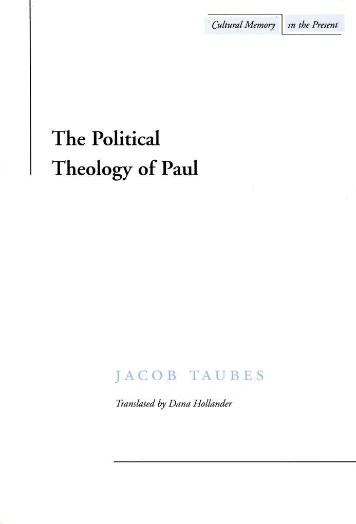 The Political Theology of Paul als Taschenbuch