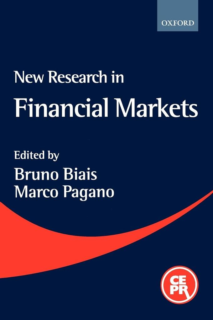 New Research in Financial Markets als Buch
