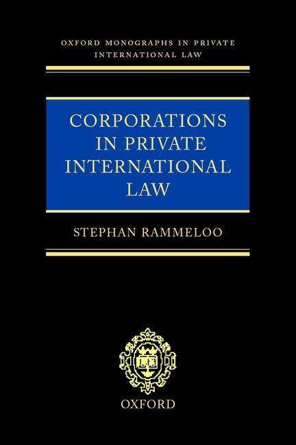 Corporations in Private International Law: A European Perspective als Buch