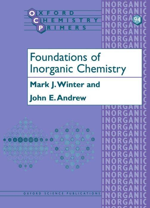 Foundations of Inorganic Chemistry als Buch