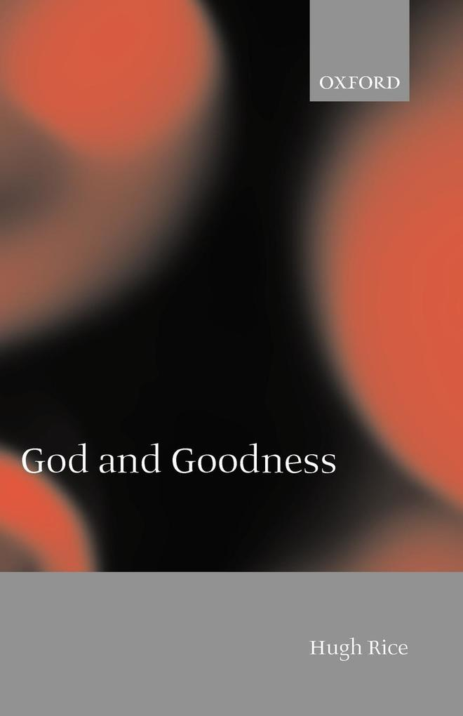 God and Goodness als Buch