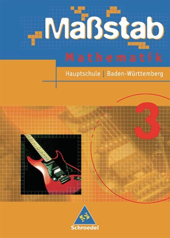 Maßstab 3 Mathematik. Schülerband. Baden-Württemberg. Hauptschule als Buch