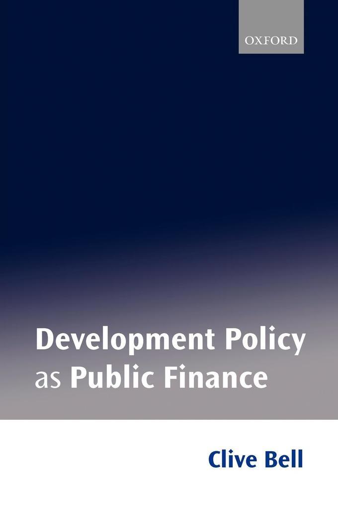 Development Policy as Public Finance als Buch