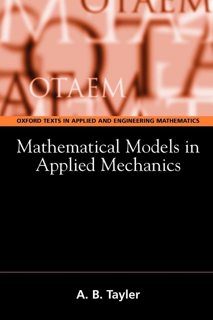 Mathematical Models in Applied Mechanics als Buch