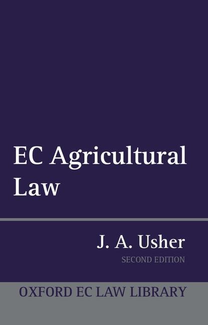 EC Agricultural Law als Buch