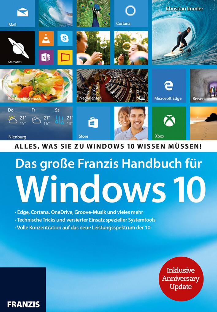 Das große Franzis Handbuch für Windows 10 als e...