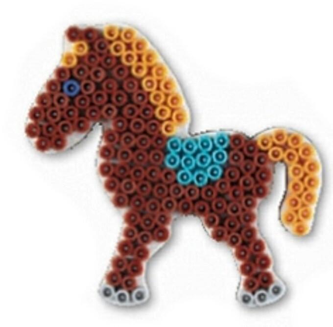 Hama 321 - Stiftplatte Pony weiß