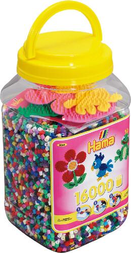 Hama 2064 - Dose mit 3 Stiftplatten und ca. 16000 Perlen als sonstige Artikel